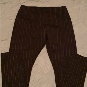 Wide band dress pants